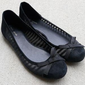 Kate Spade Mesh Suede Ballet Flat Shoes Sz 10M